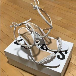 *NEVER WORN* Schutz White Strappy Sandals